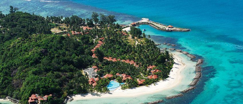 village de sainte anne à praslin aux seychelles