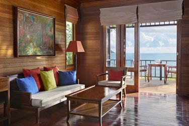La salon donnant sur votre terrasse privative