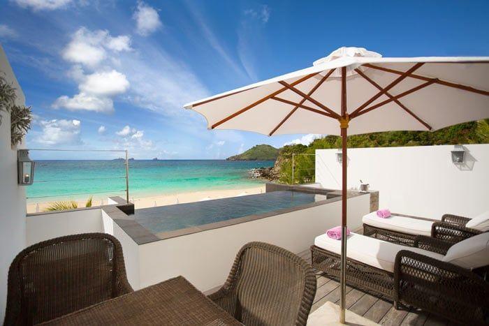 suite plage avec piscine privée