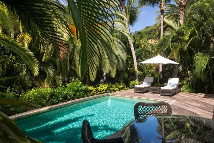 suite tropicale avec piscine privée