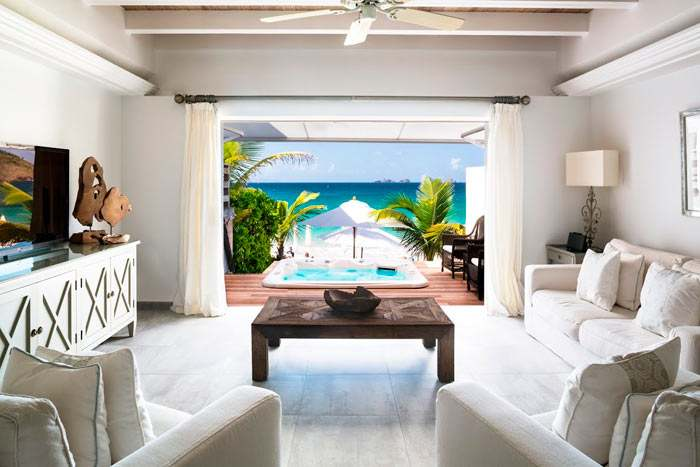 suite plage avec bain à remous (2 chambres)
