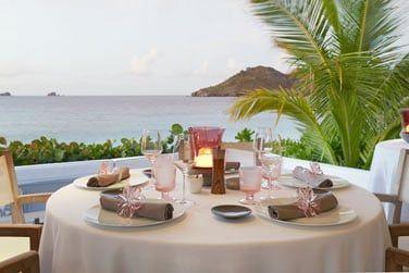 Des dîners privés sont possibles et peuvent être organisés sur la plage...