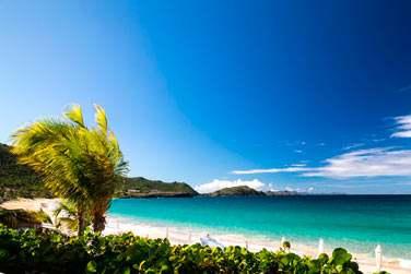Plage de sable blanc, mer turquoise, tranquillité...