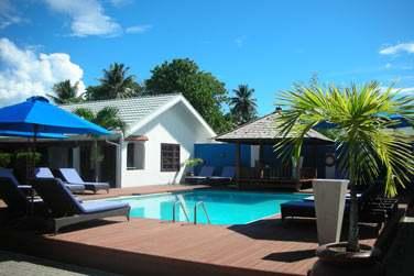 L'hôtel Villas de Mer vous accueille dans un jardin tropical, avec vue imprenable sur la mer et la piscine
