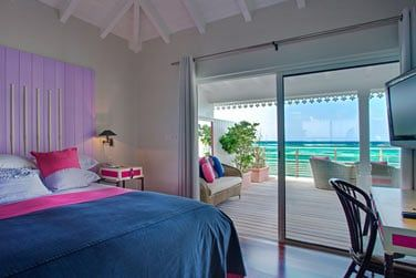 La vue sur le lagon turquoise depuis la chambre