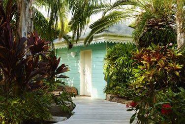 Les cottages sont situés au coeur d'une végétation luxuriante