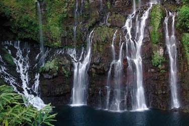Paysage de cascades à la Réunion