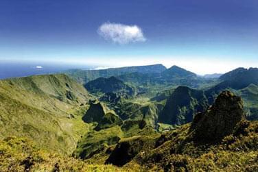 Paysage de montagnes à la Réunion