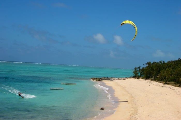 photo kitesurf à l'île rodrigues