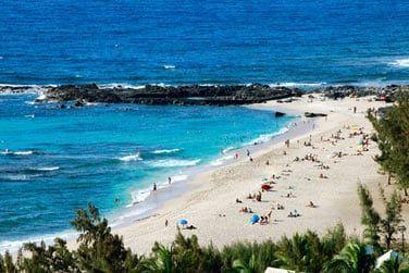 La plage de Boucan Canot, une des plus belles de l'île