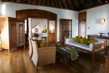 Le salon de la Sunset Lagoon Villa