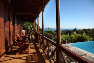 La vue depuis les chambres du Jardin Malanga