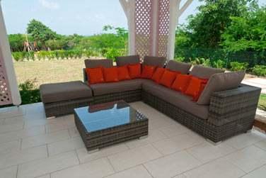 La terrasse d'une villa, pour des moments en toute tranquillité