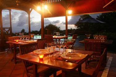 Le restaurant de l'hôtel Le Jardin Malanga