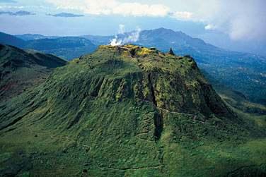 Le dôme de la Soufrière en Basse-Terre, Guadeloupe
