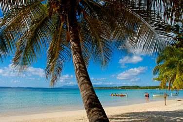 La plage de Grande Ansse en Basse-Terre en Guadeloupe