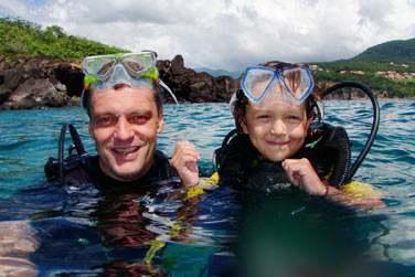 Plongée dans la réserve naturelle marine Cousteau en Basse-Terre en Guadeloupe