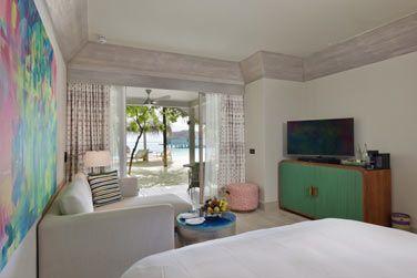 Et sa belle chambre aux couleurs pastel.