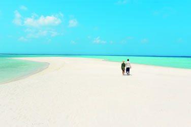 Lézardez sur les immenses plages de sable blanc!