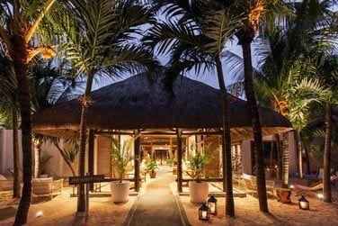 Végétation tropicale et toit de chaume : le charme opère dès la réception...