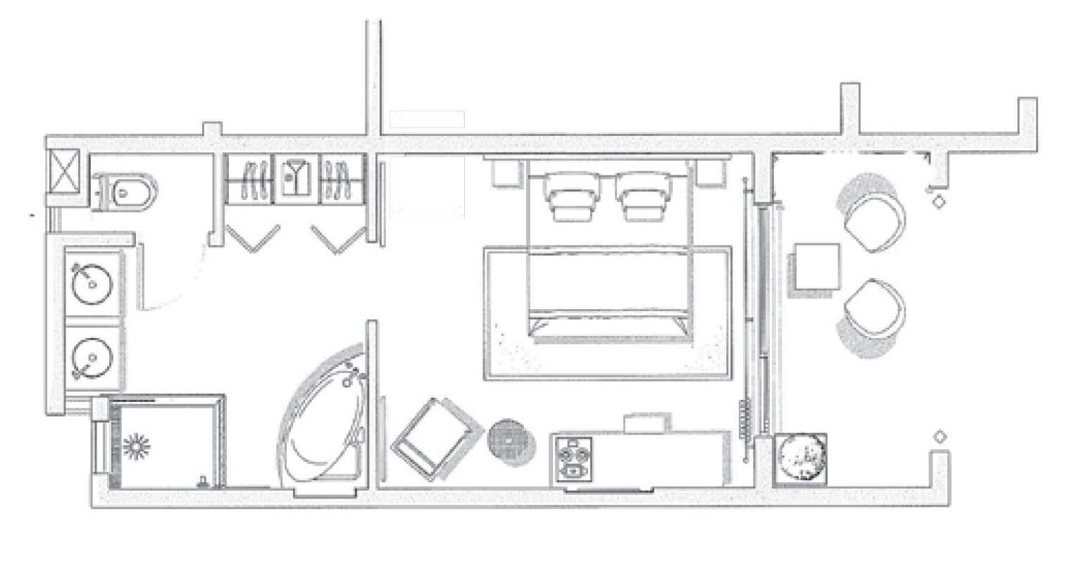 #61666A Tamassa Un Hôtel Tout Inclus Ile Maurice 3033 plan petite chambre parentale 1532x821 px @ aertt.com
