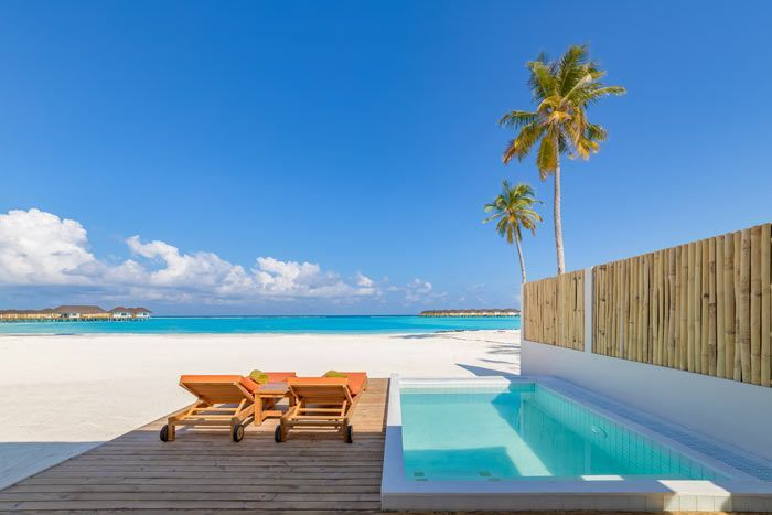 grande villa plage avec piscine