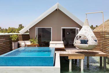 Voici les villas Romantique sur pilotis avec piscine