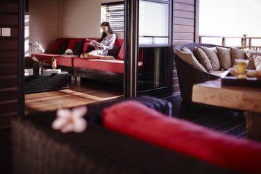 Le coin salon du Lodge