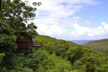 Les lodges nichés dans la végétation et à flanc de colline offrant une vue à couper le souffle