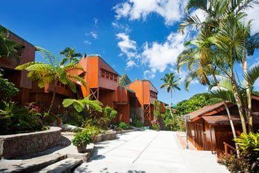 L'hôtel Ladera est un véritable boutique hotel construit sur la façon 'd'un écolodge'
