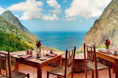 Le restaurant Dasheene propose une des meilleures tables de l'ile
