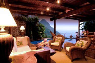 Le coin salon de la suite at Paradise Ridge