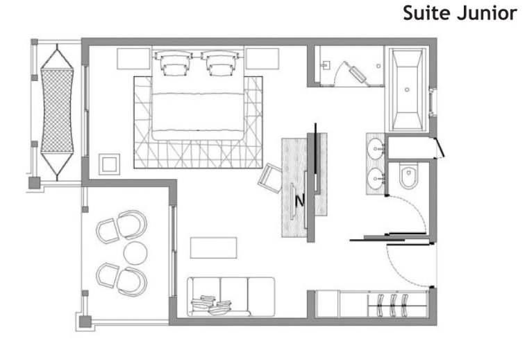 Les chambres et quipements h tel lux saint gilles for Plan architecte chambre hotel