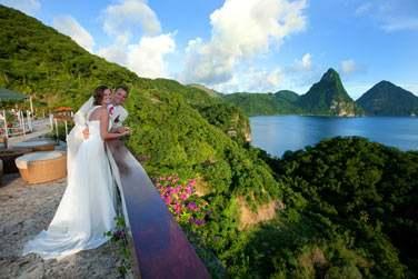 Mariage de pure beauté au Jade Mountain à Sainte-Lucie