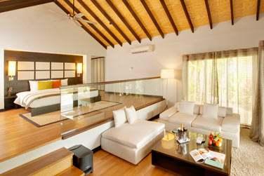 Le coin salon et la chambre de votre Pool Villa... Espace et confort