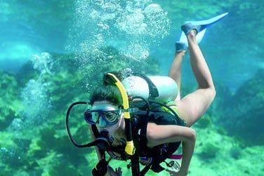 Plongée sous-marine pour admirer la nature marine de Sainte-Lucie