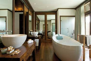 Salle de bain de votre Villa sur Pilotis