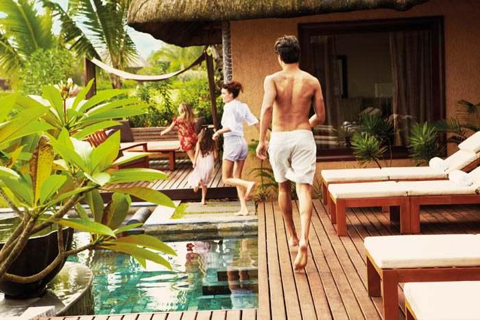 suite villa front de mer avec piscine