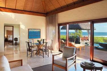 Le salon de la villas deux chambres