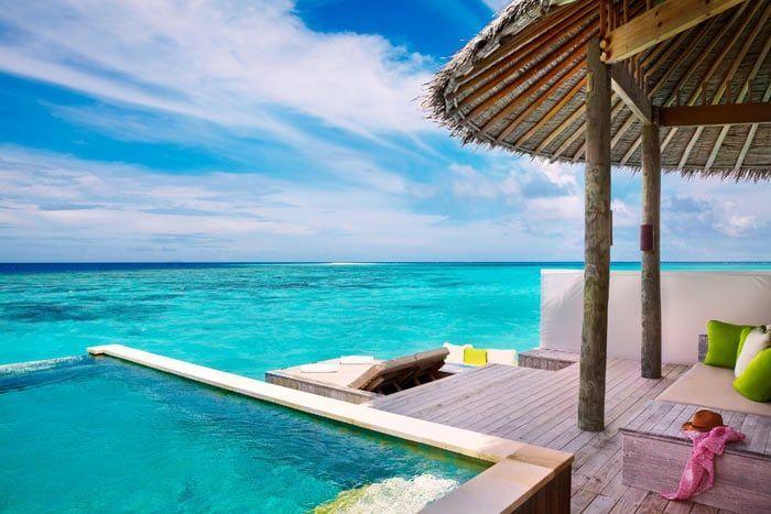 villa pilotis océan avec piscine