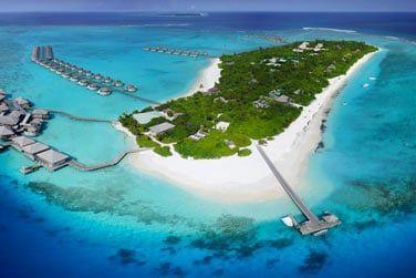 Le Six Senses Laamu, situé sur l'île d'Olhuveli, au sud de l'archipel des Maldives