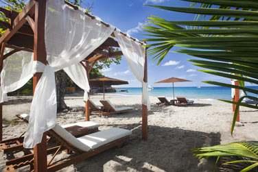 Calme et tranquillité sur la petite plage de l'hôtel Ti Kaye !