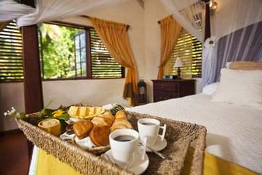 Intérieur du cottage... Et petit déjeuner servi en chambre !