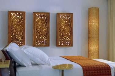 Intérieur de la Beach Villa... Décoration moderne aux influences maldiviennes