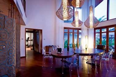 La salle de séjour de la Villa Présidentielle