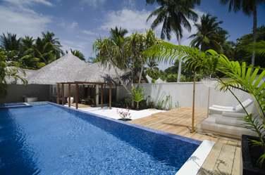 Espace extérieur de la Villa Honeymoon, idéal pour les jeunes mariés !
