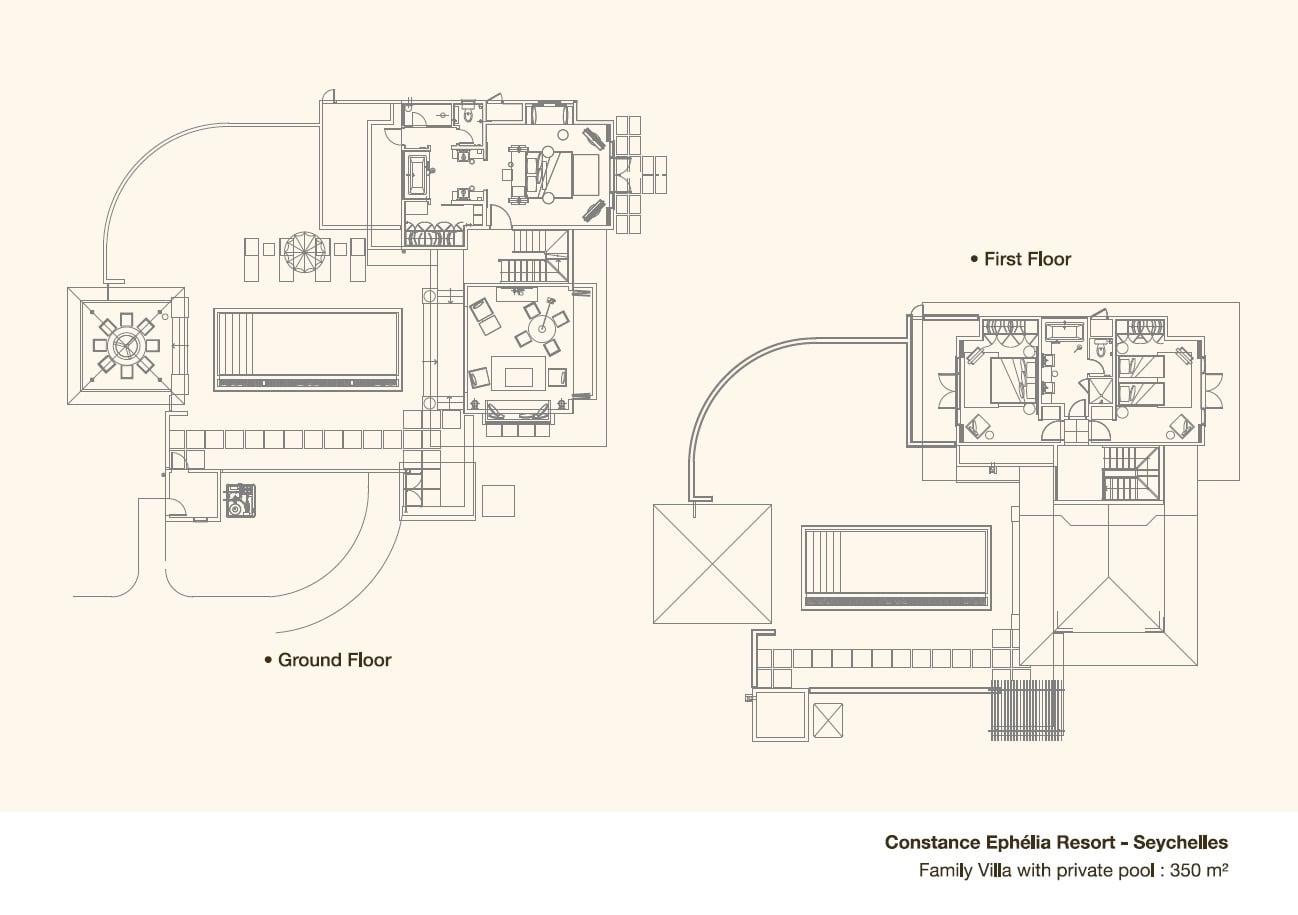 Plan de maison de luxe avec piscine maison moderne - Plan de maison avec piscine ...