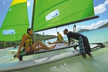 Vous pourrez pratiquer de nombreux sports nautiques