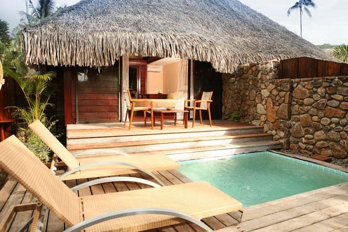 bungalow jardin piscine