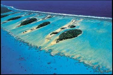 L'atoll de Rangiroa dans les Tuamotu